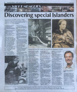 County Press coverage of IW Hidden Heroes