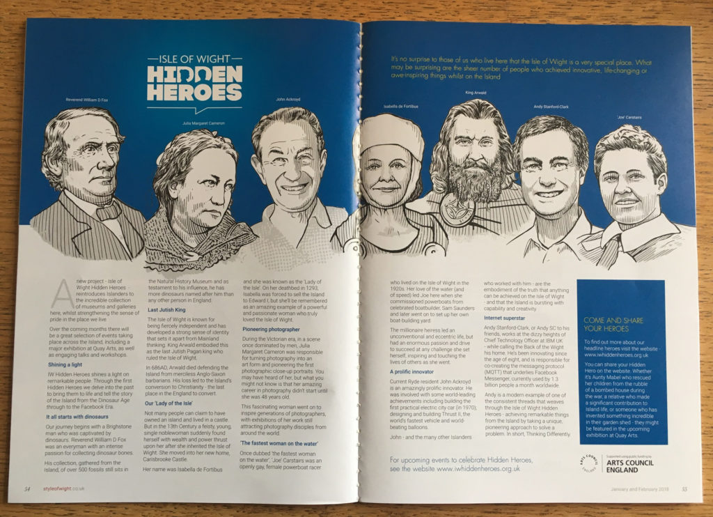 Hidden Heroes feature in Style of Wight